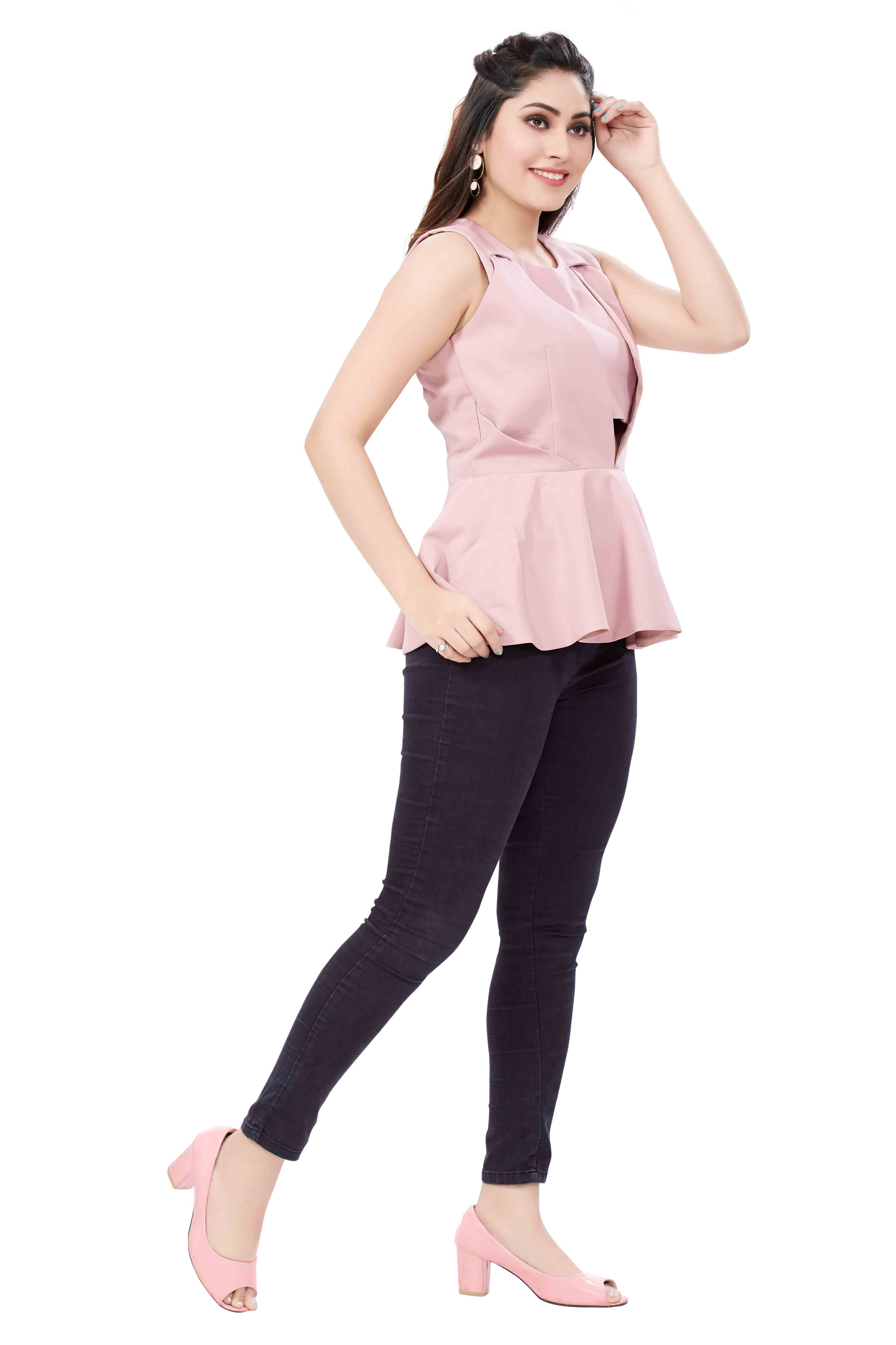 cut out peplum style top